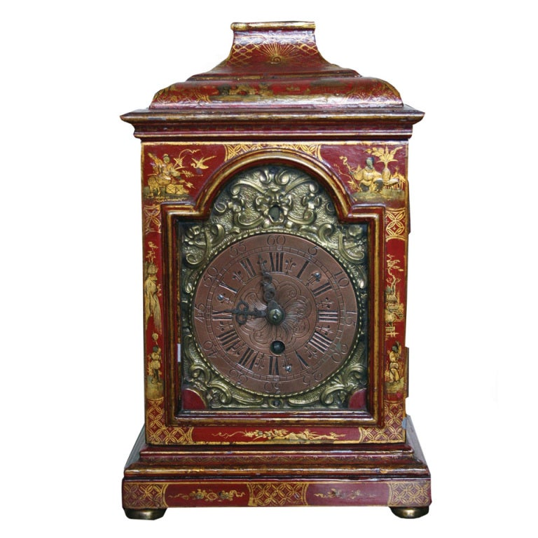 Mid Georgian Chinoiserie Bracket Clock 18th Century At