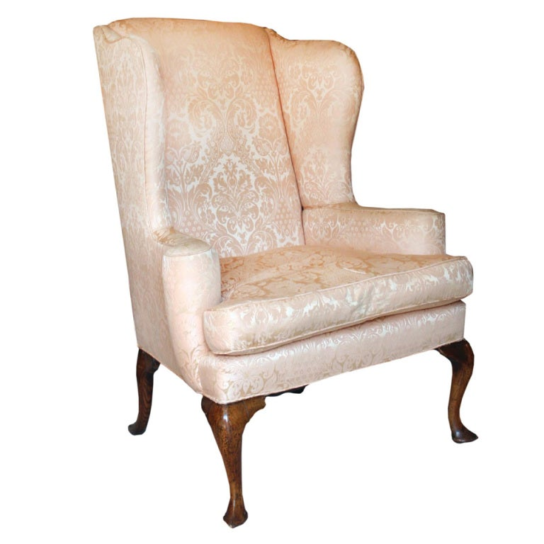 Queen Anne Walnut Wing Chair Early 18th Century at 1stdibs