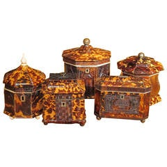 Collection of Pressed Tea Caddies