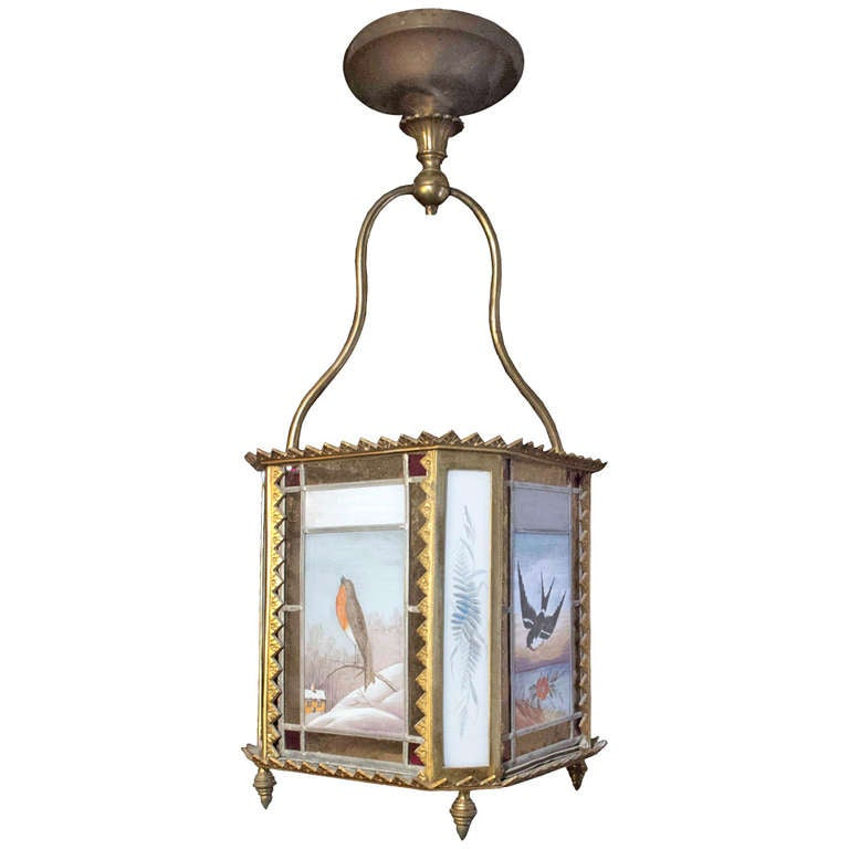 English Aesthetic Movement Hall Lantern Late 19th Century