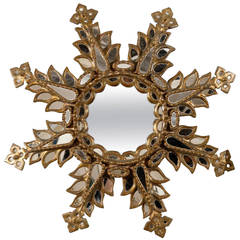 19th Century Italian Sunburst Mirror