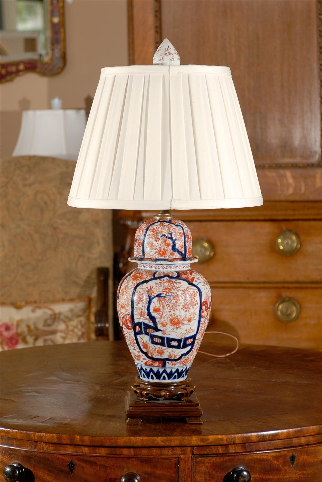Antique Japanese Imari Lamp At 1stdibs