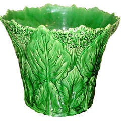 Large Majolica Cache Pot
