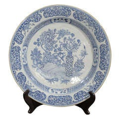 Large 18th C. Blue/White Plate