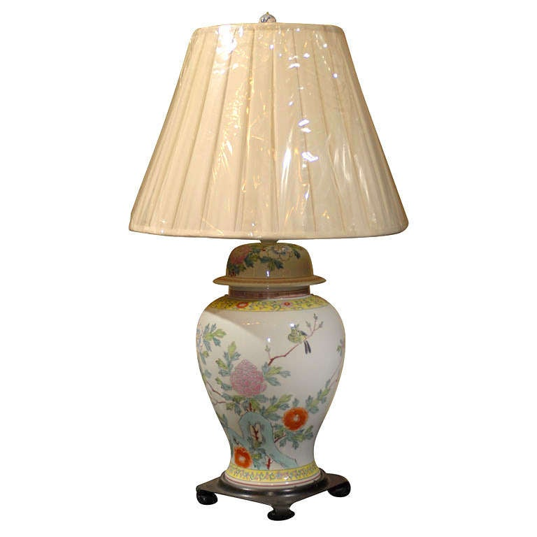 Early 19th Century Porcelain Made into a Lamp