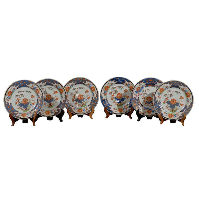 Set of 5 Chinese Export Early 18th Century Imari Plates