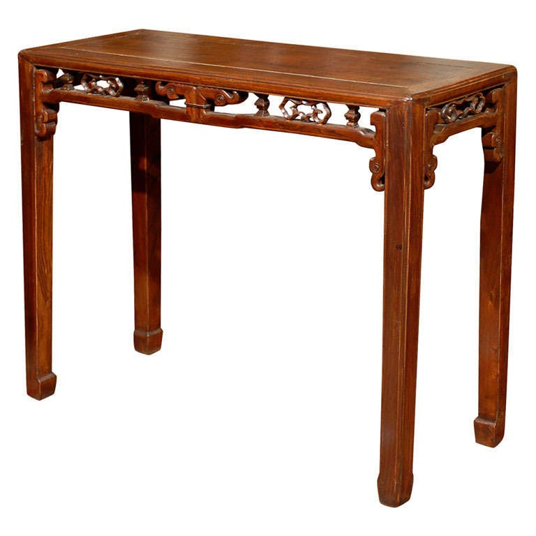 19th century qing dynasty narrow side table at 1stdibs for Long narrow side table