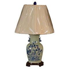 Antique Celadon Vase made into a lamp