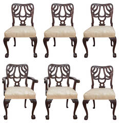 Set of Six Mahogany Chinese Chippendale Chairs