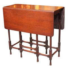Mid 18th century English mahogany spider-leg table