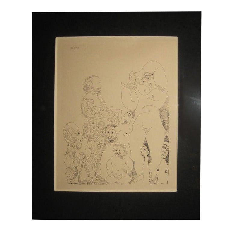 Picasso Etching For Sale