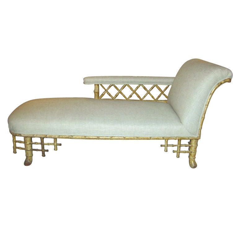 English regency chaise at 1stdibs for Chaise longue in english