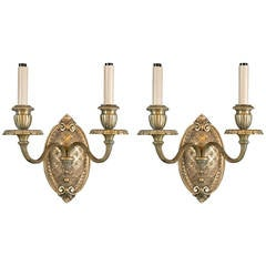 Pair of circa 1900s Caldwell Gilt Bronze Sconces