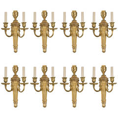 Pair of circa 1920s Caldwell Gilt Bronze Sconces
