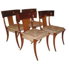 Set Of Four Klismos Chairs