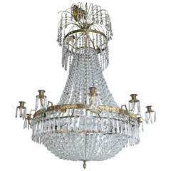 19th Century Swedish Empire Style Chandelier