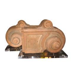 Glazed 19th Century French Ceramic Cat Roof Tile J