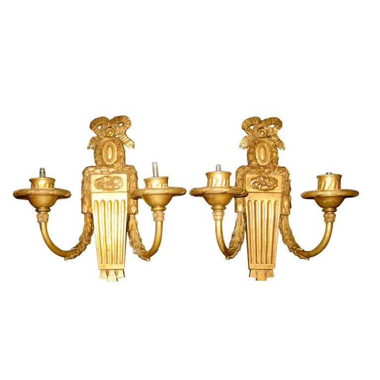 Pair Of Bronze caldwell Sconces