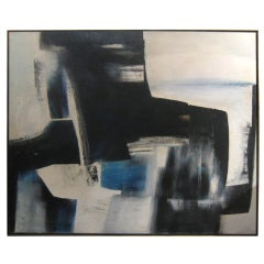 C. 1950's Abstract Oil On Canvas