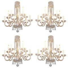 Unique Set Of 4 Chandeliers From A European Hotel