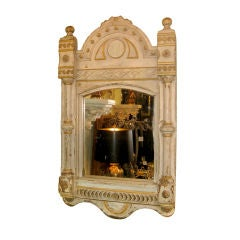 Carved And Painted Italian Mirror