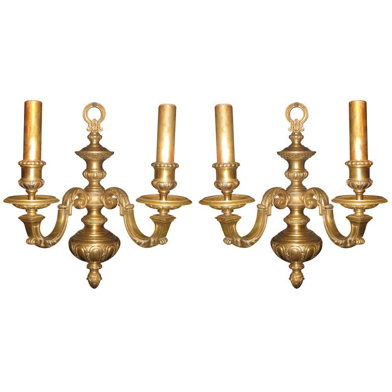 Pair Of Caldwell neoclassical Style Gilt bronze Sconces