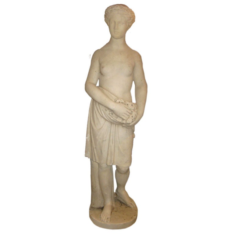 Large Carved Marble Garden Statue