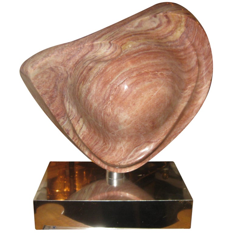 Carved And Polished Marble Sculpture