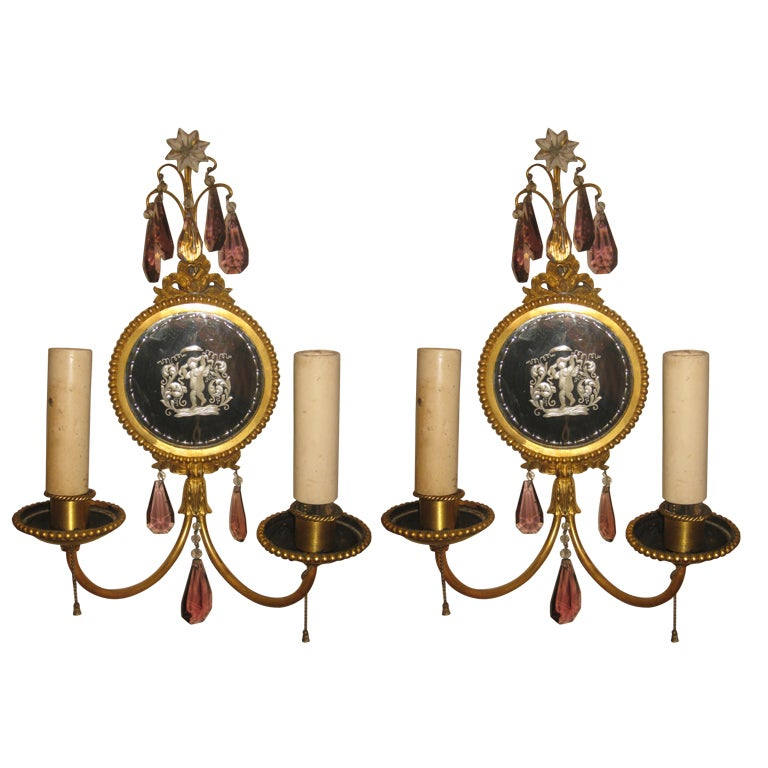 Pair Of E.F. Caldwell Sconces For Sale