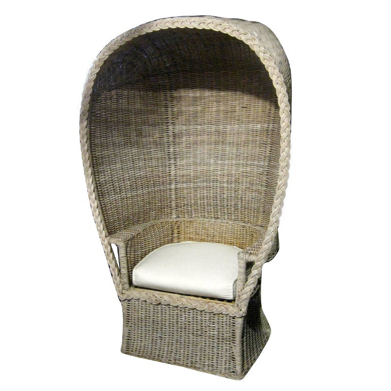 Wicker Porter Chair at 1stdibs