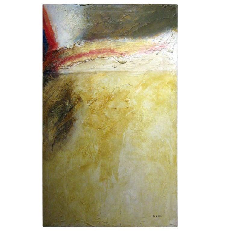 Acrylic On Canvas Abstract Signed Nevio