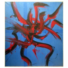 Vibrant Abstract Expressionist Painting