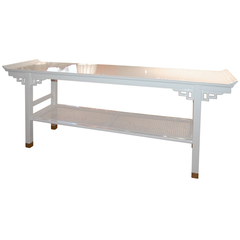 White Lacquered Console Table At 1stdibs