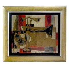 Abstract Still Life Signed Claude Venard