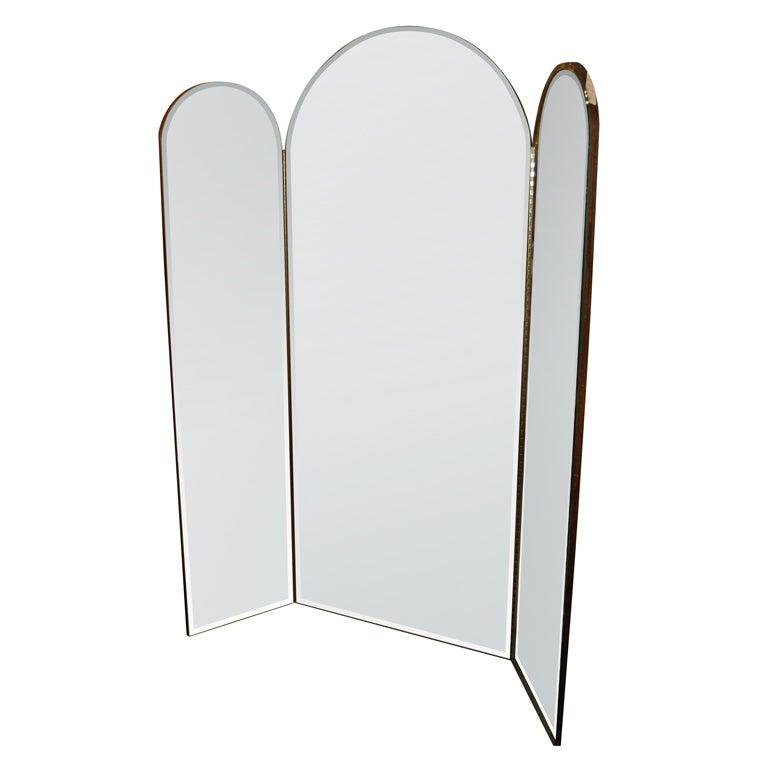 tri fold mirror at 1stdibs. Black Bedroom Furniture Sets. Home Design Ideas