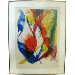Paul Jenkins Color Lithograph