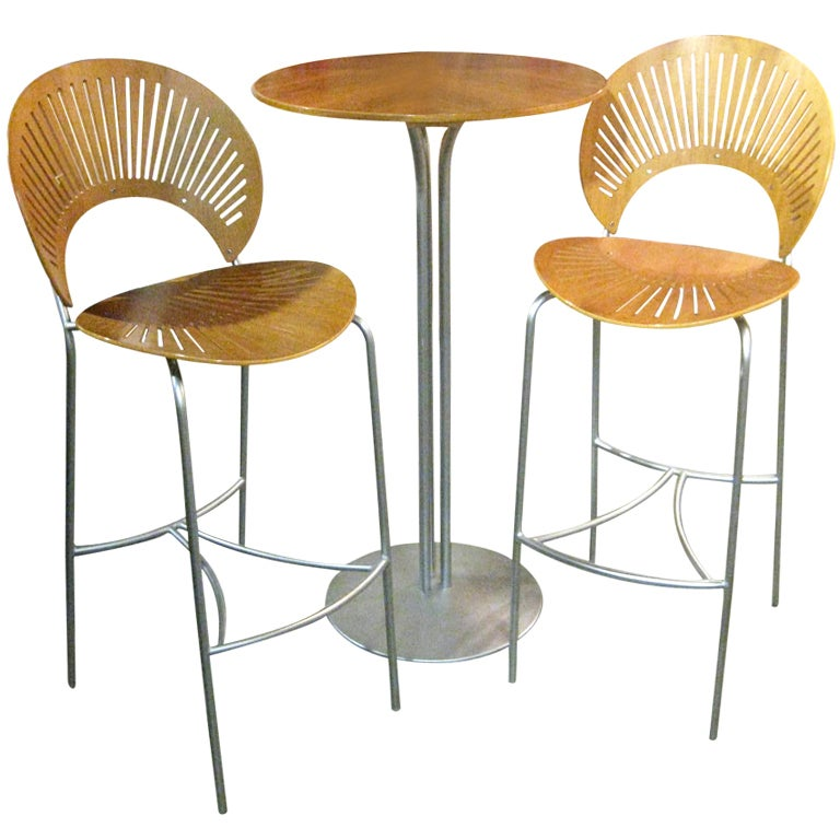 Trinidad bar stools and table at stdibs