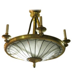 A Large Caldwell Leaded Glass Chandelier