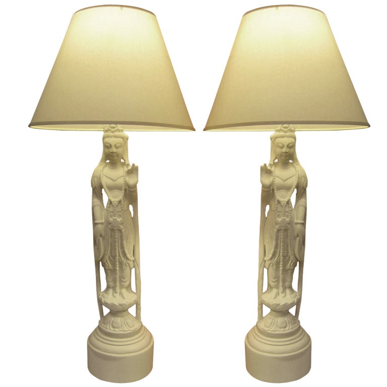 Pair Of Asian Style Lamps For Sale At 1stdibs