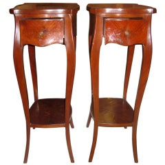 Pair Of Rare French Parquetry Side tables