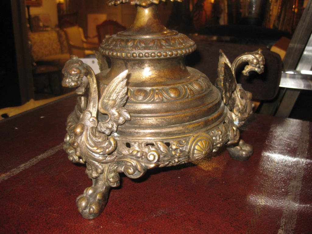 Antique cut crystal and bronze centerpiece at stdibs