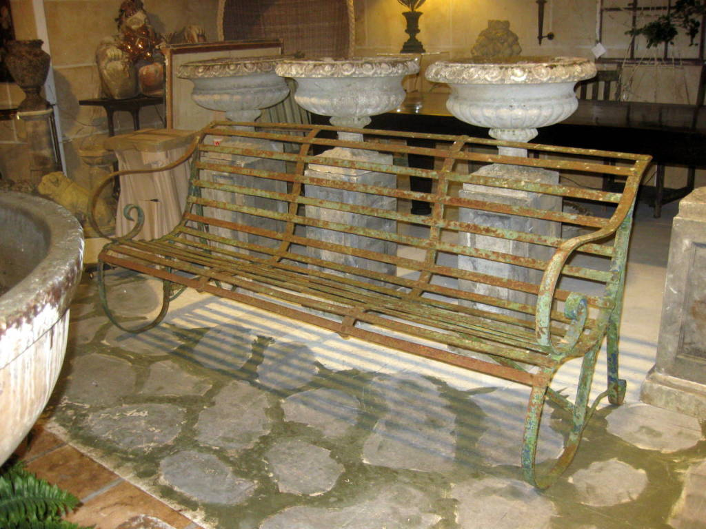 Antique Iron Garden Bench At 1stdibs