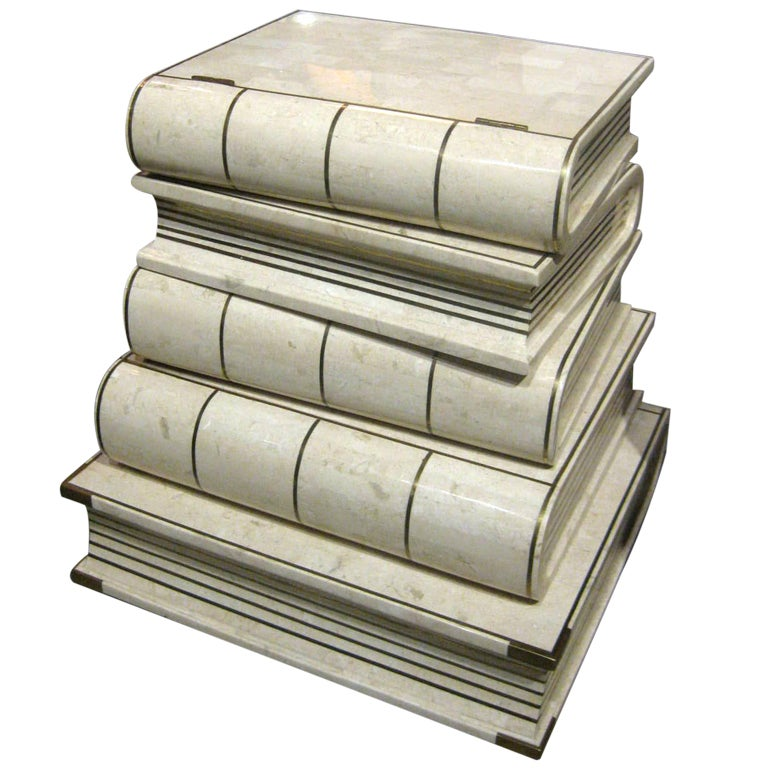 Maitland Smith Stack Of Books End Table At 1stdibs