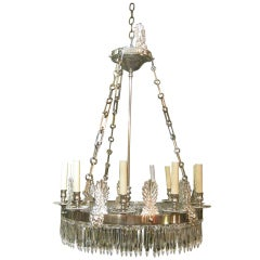 French Empire Style Silverplate Chandelier