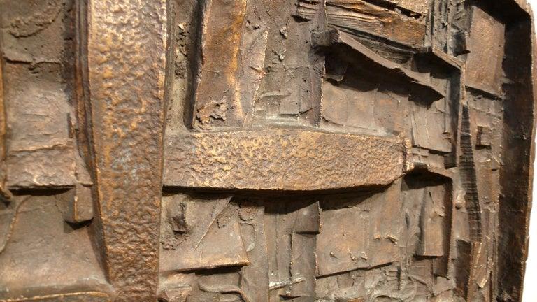 Mid-Century Modern Abbott Pattison Abstract Bronze Wall Sculpture For Sale