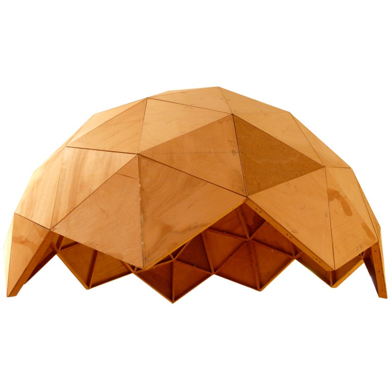 Wood Geodesic Dome Plans: Plywood Geodesic Dome At 1stdibs
