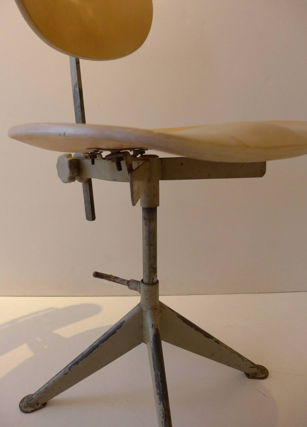 Odelberg Olsen Work Chairs In Good Condition For Sale In New York, NY