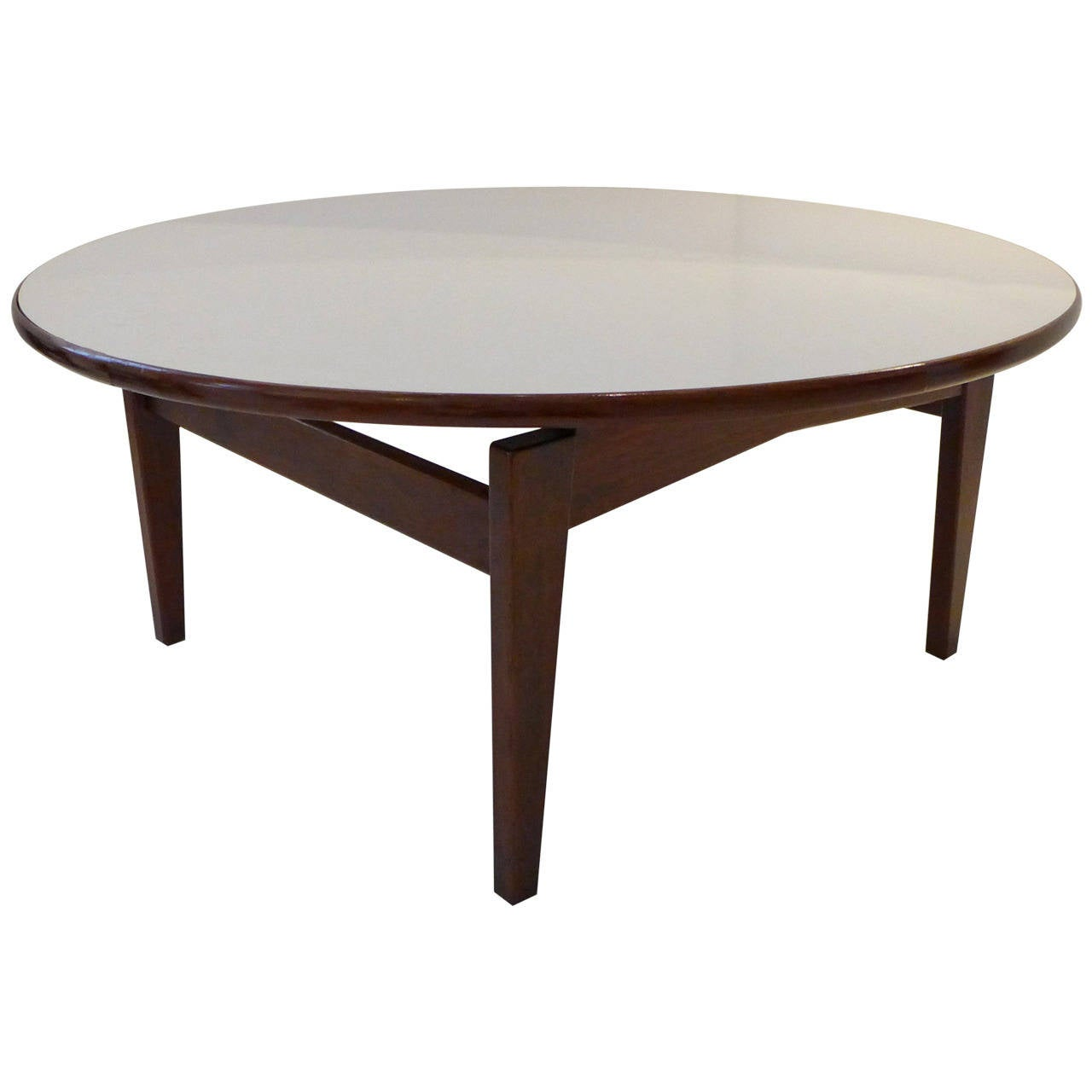 Jens risom cocktail table with white laminate top for sale for Cocktail tables for sale used