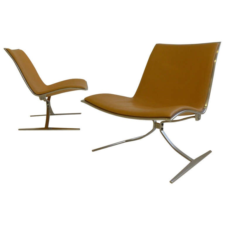 "Matched Pair of Jorgen Kastholm ""Skater"" Chairs"