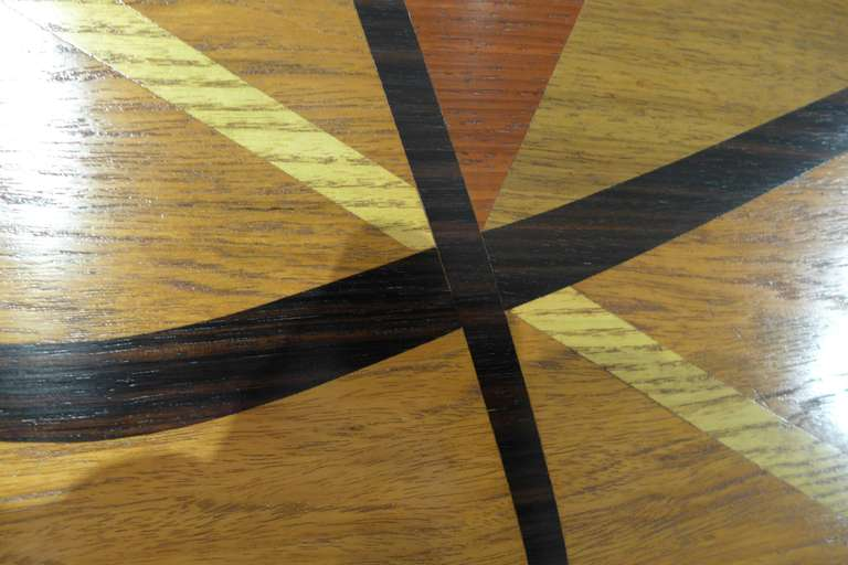 Mid-20th Century Midcentury Marquetry Cocktail Table For Sale